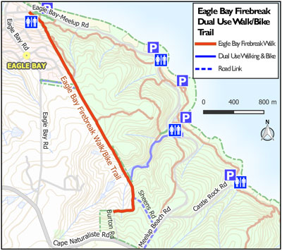 Eagle Bay Firebreak Walk Map