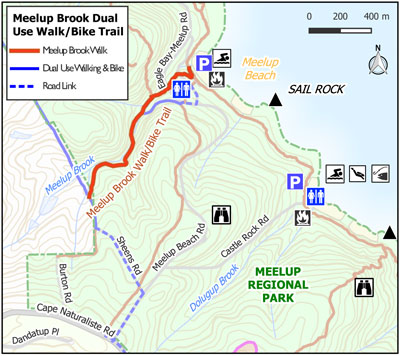 Meelup Brook Walk Map