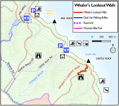 Meelup Park Whalers lookout Map