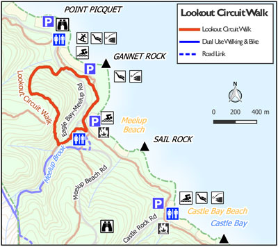 Meelup Park lookout circuit Map