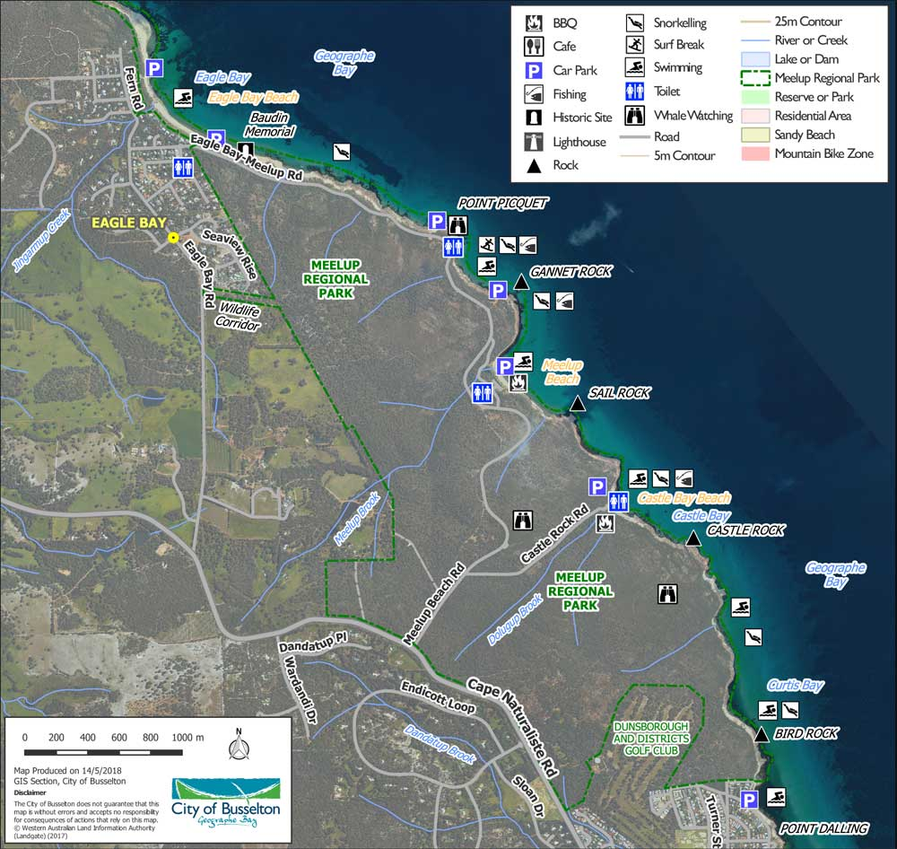 Meelup park Waterways map
