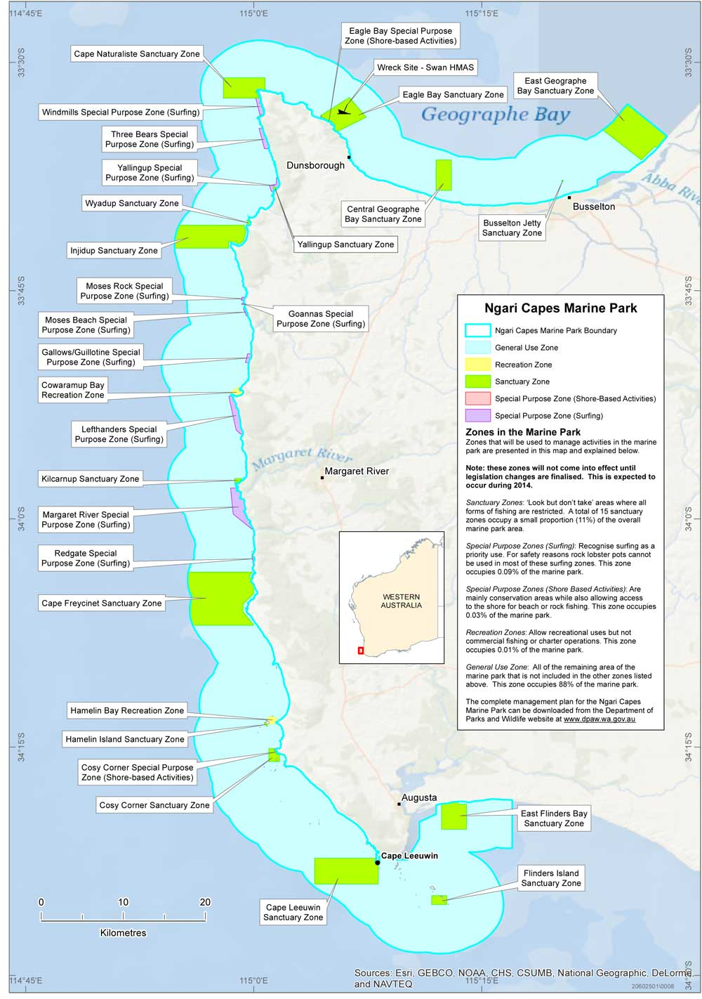 Ngari Capes Marine Park New Map