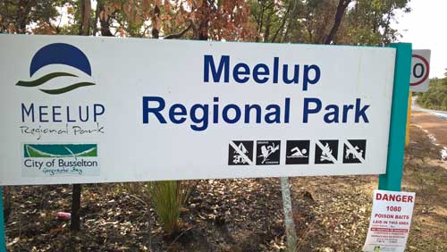Publications Meelup park entry sign