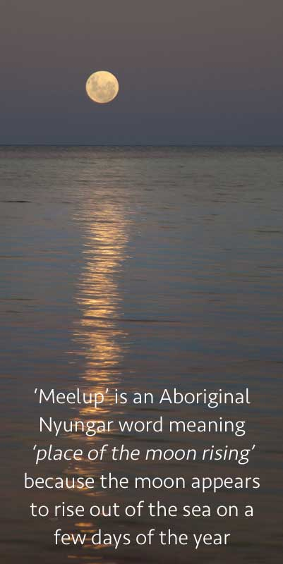 meelup park moon riseing indigenous text 1